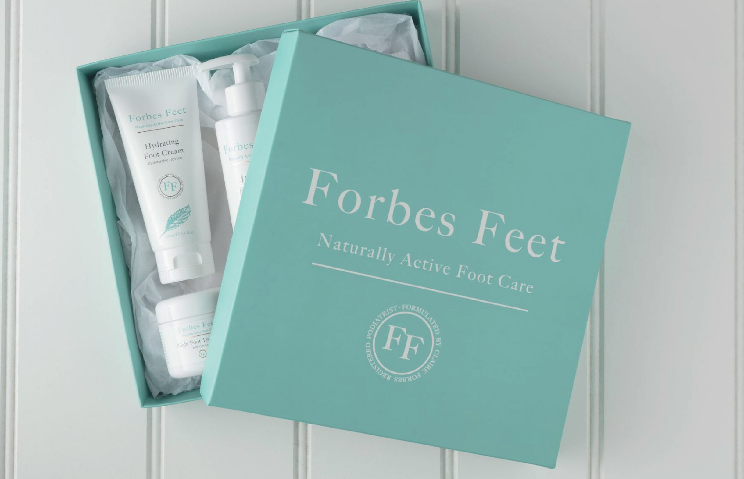 Quints Design co - Forbes Feet Product & Packaging Design