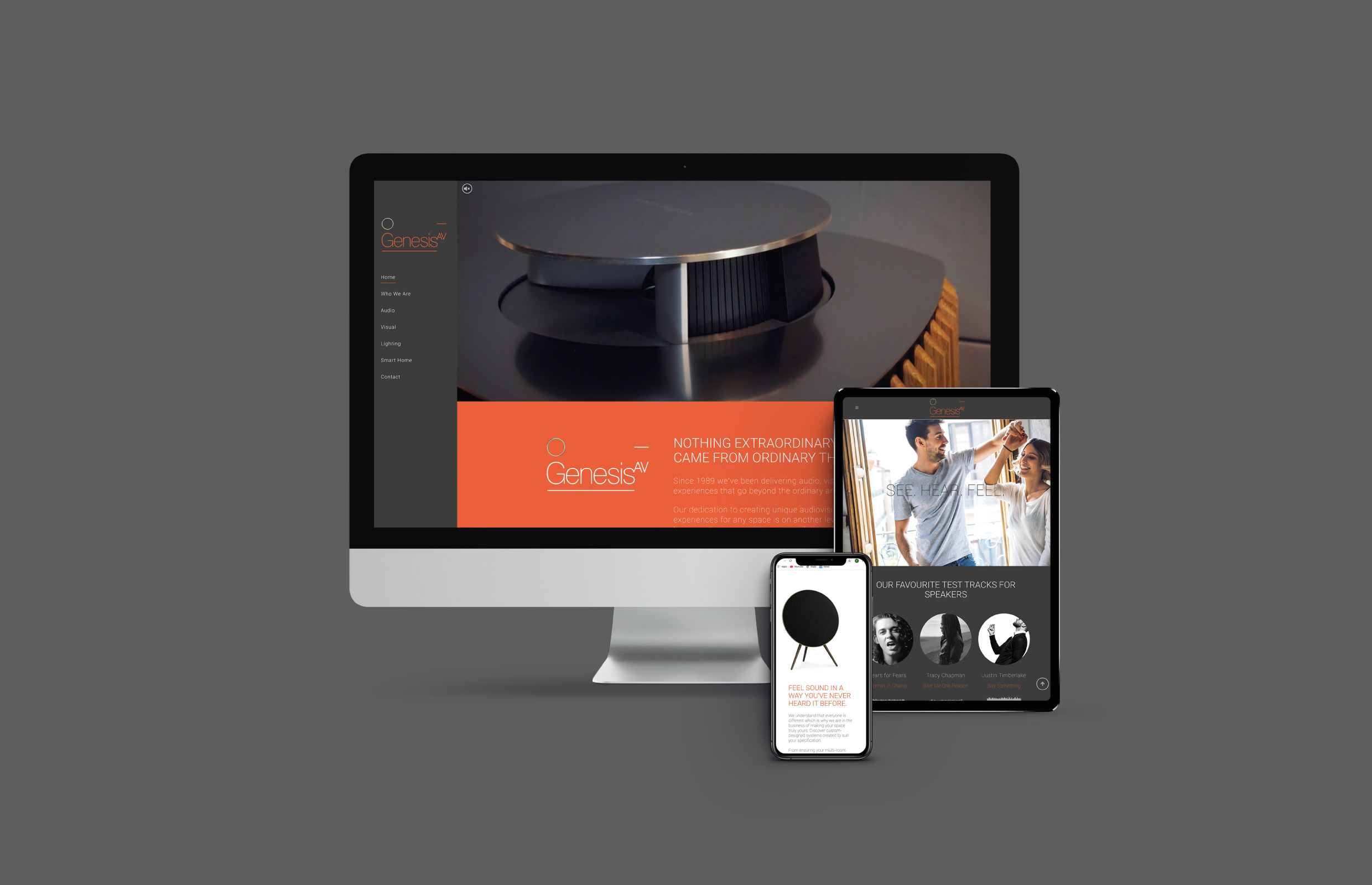 Genesis AV Website Design Responsive