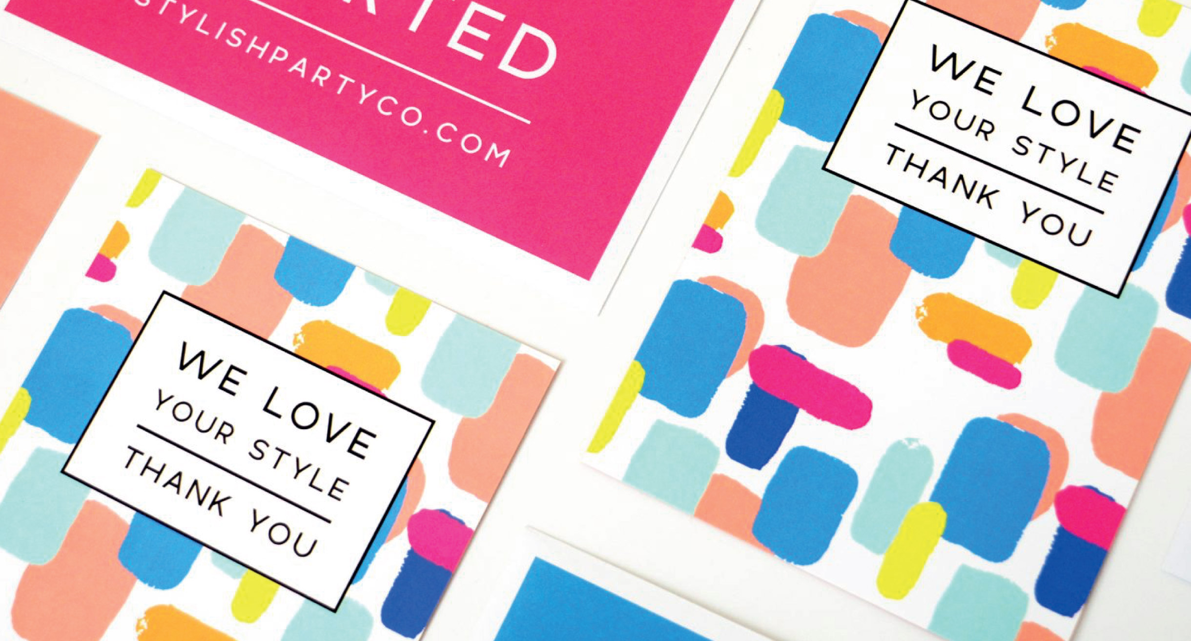 Quints Design co - Stylish Party co Branded Stationery