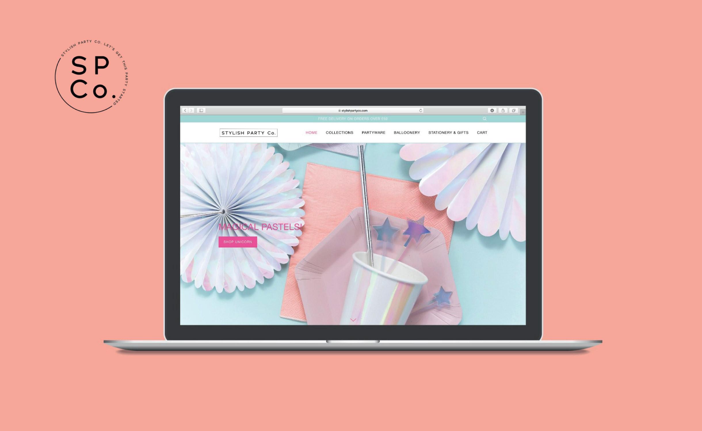 Quints Design co - Stylish Party co Website Design