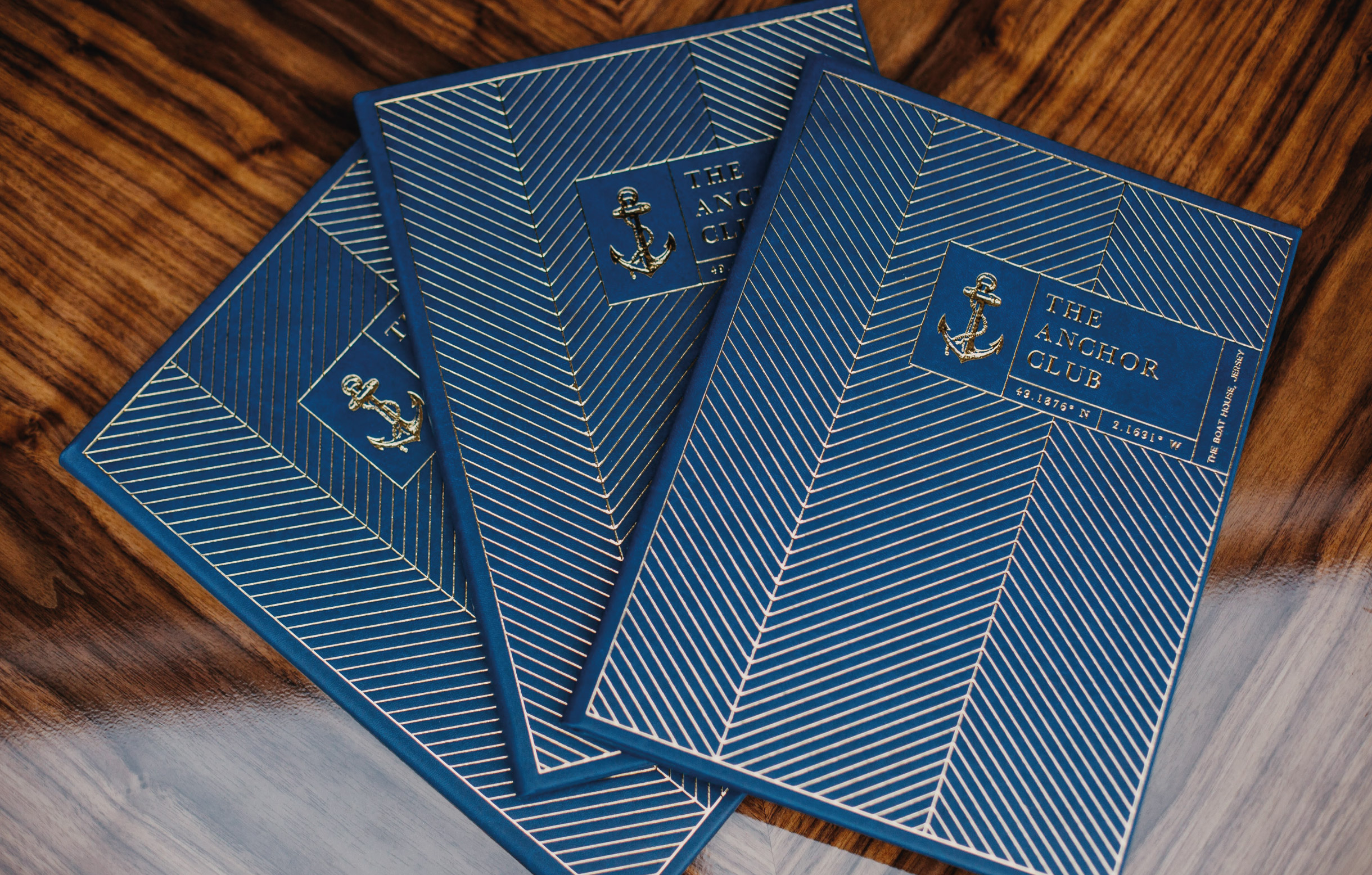 Quints Design co - The Anchor Club - Branding and Menu Design