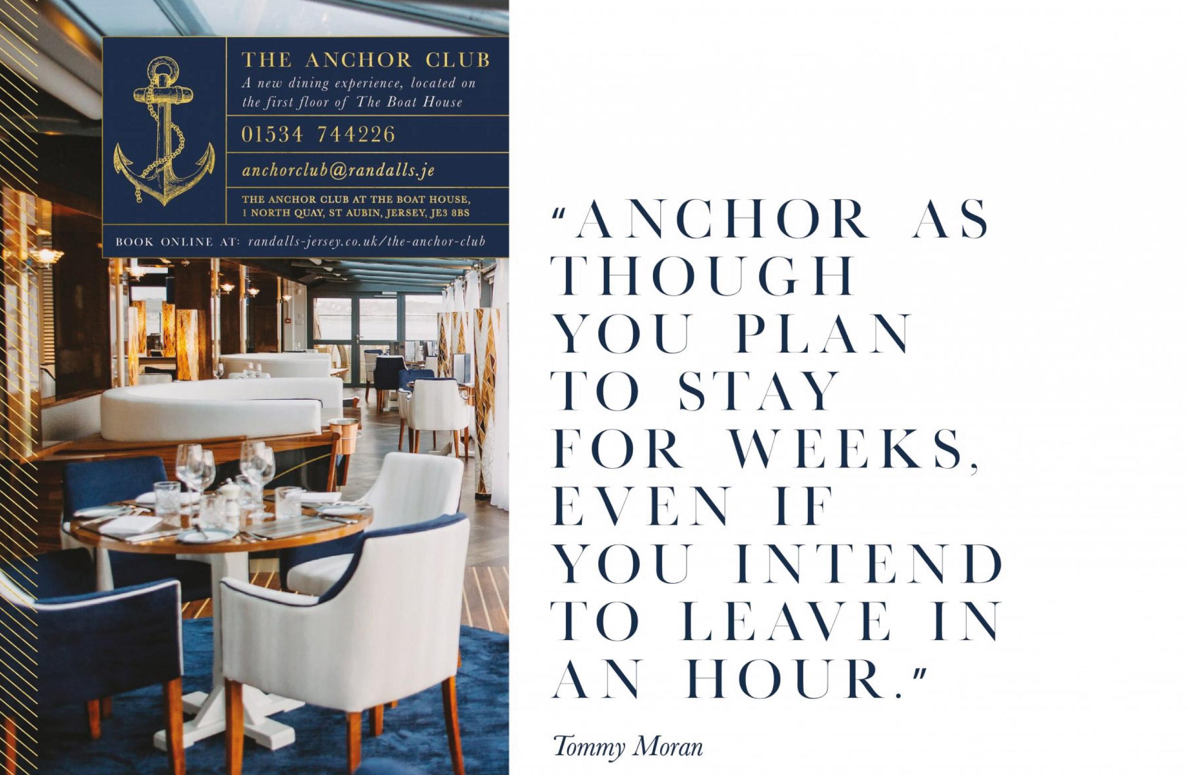Quints Design co - The Anchor Club - Advert Design