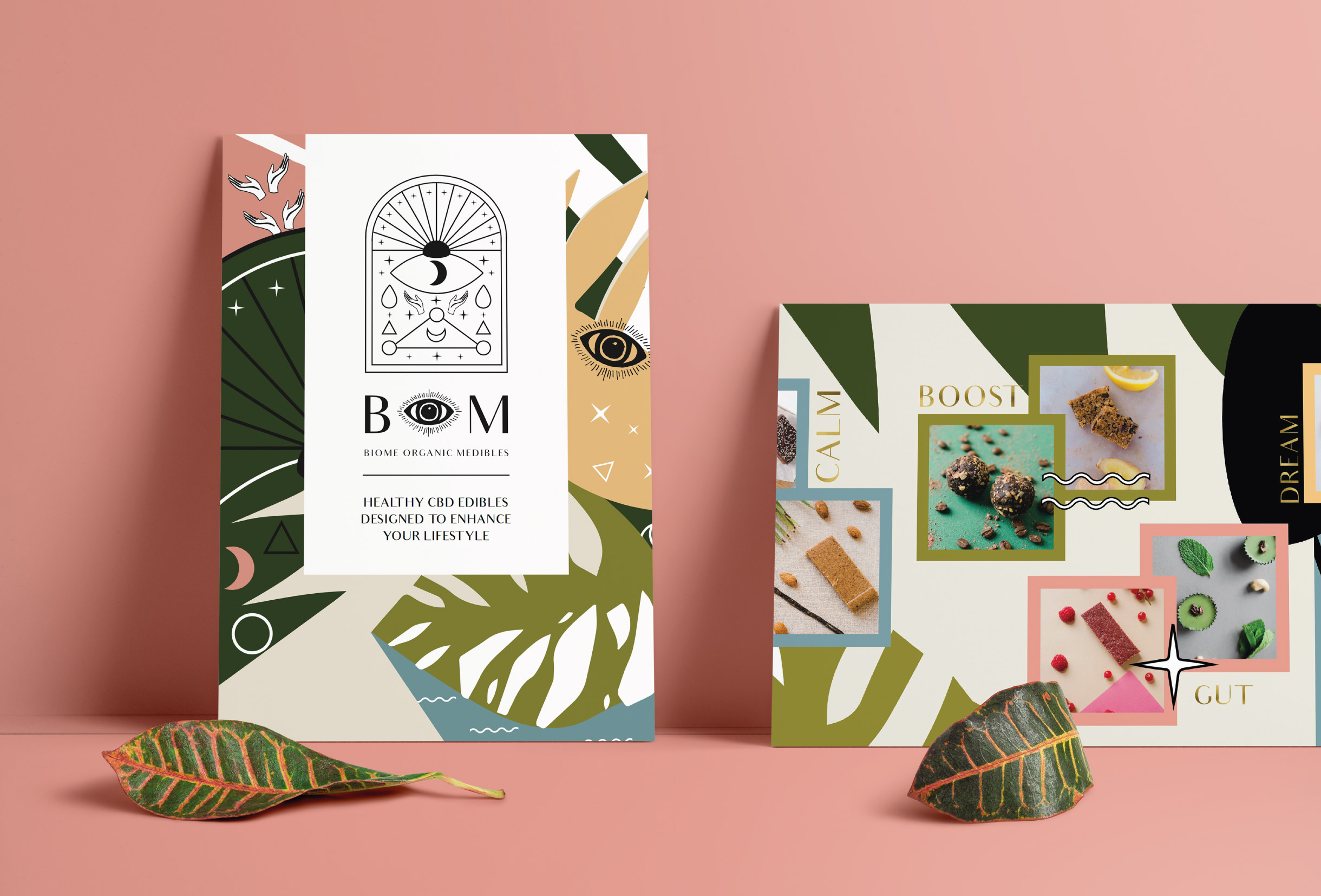 Quints Design co - Portfolio - BOM Edibles Branding