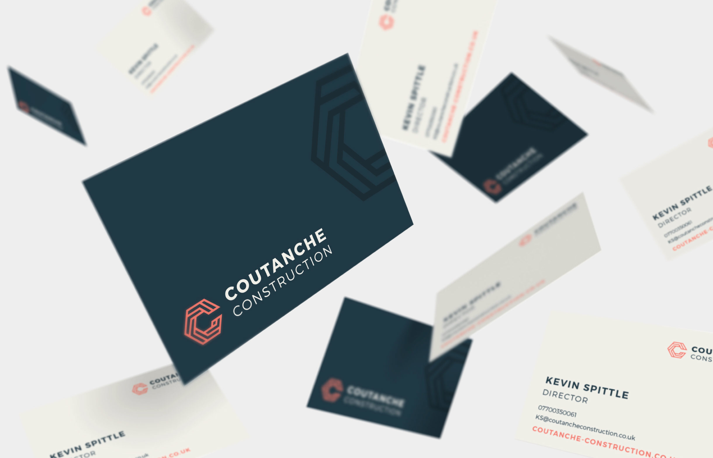 Quints Design co - Coutanche Construction Branding and Website Design
