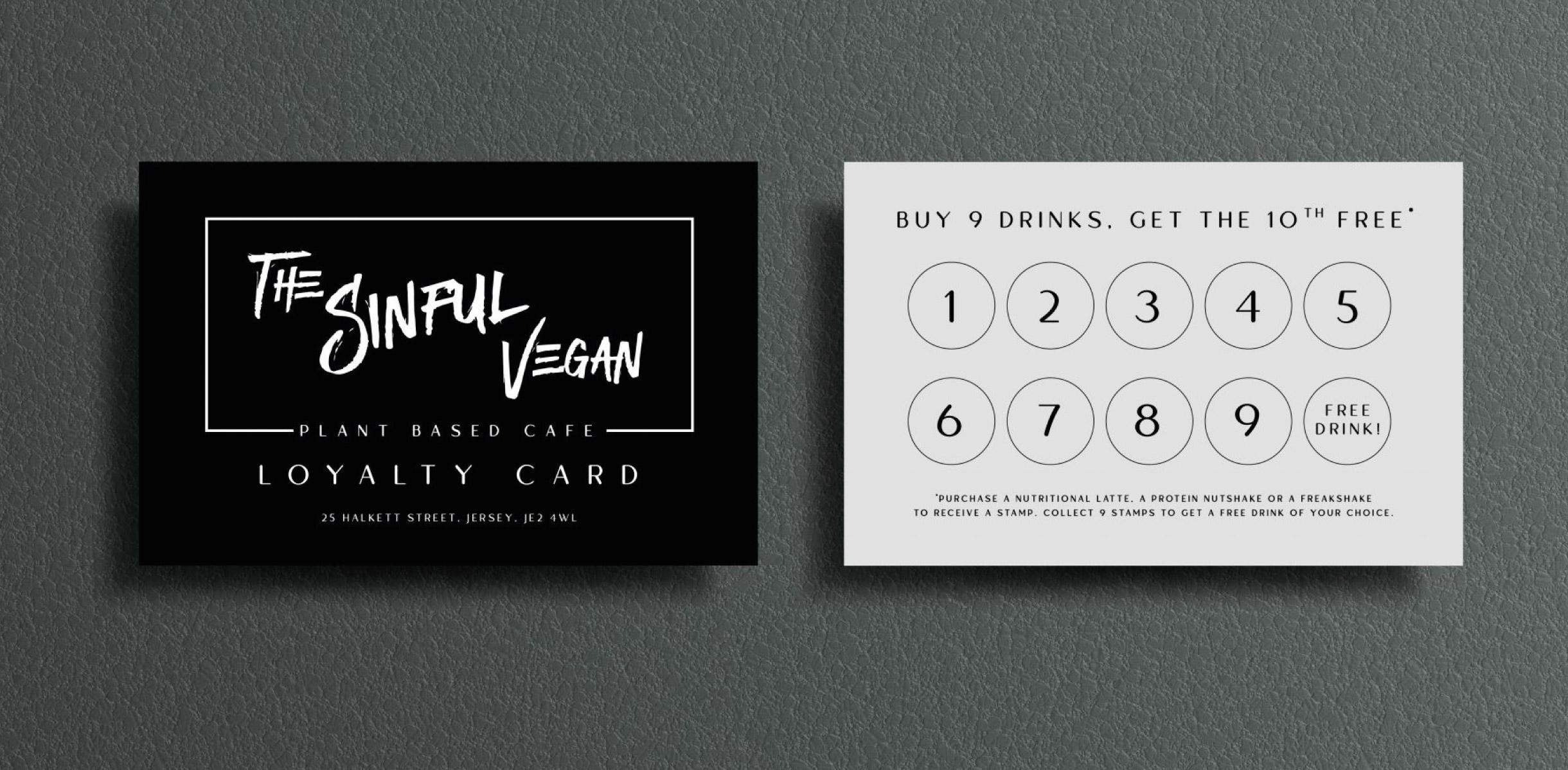 Quints Design co - Portfolio - The Sinful Vegan