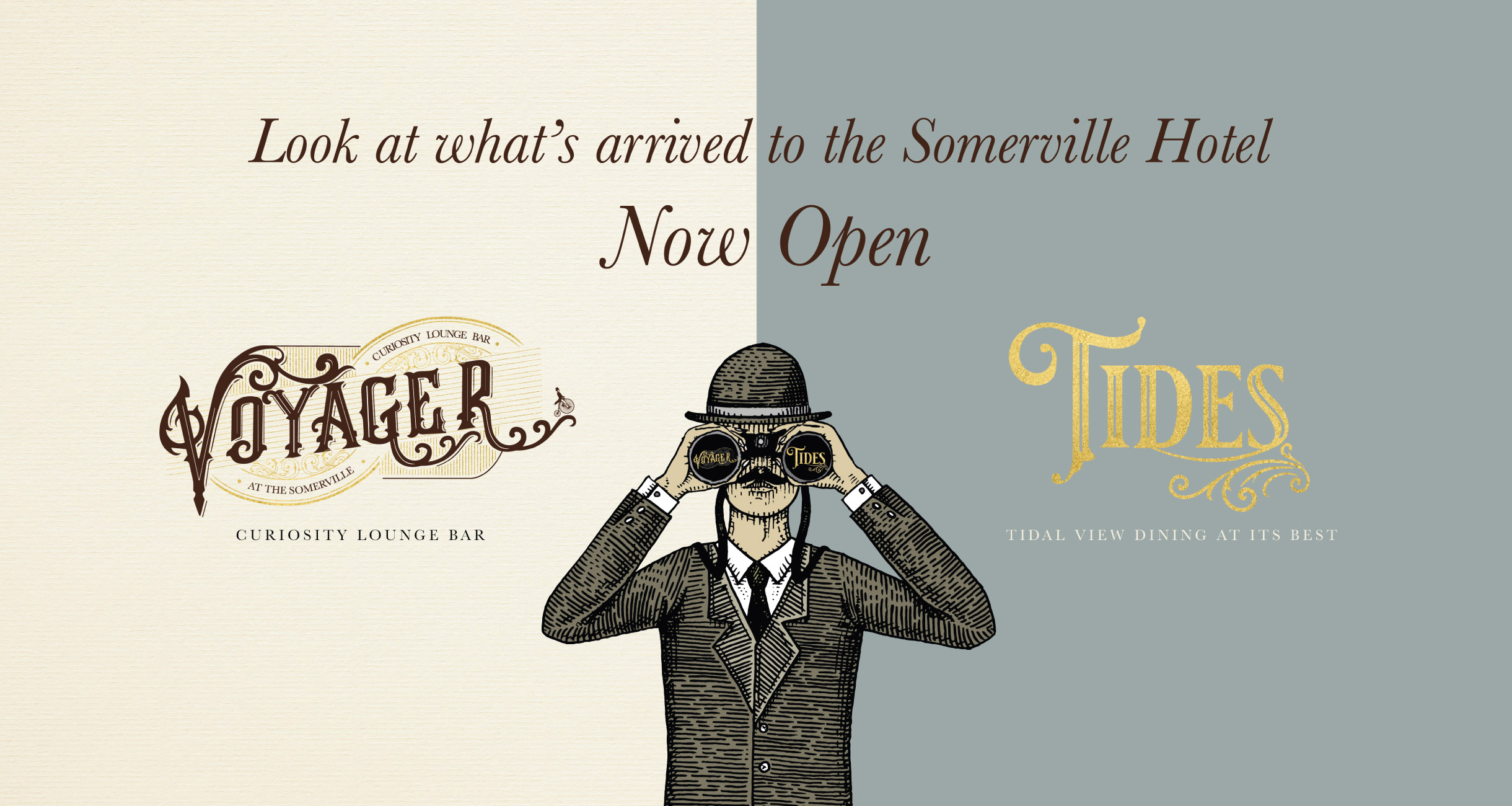 Quints Design co - Portfolio - Voyager and Tides at The Somerville Hotel- Branding